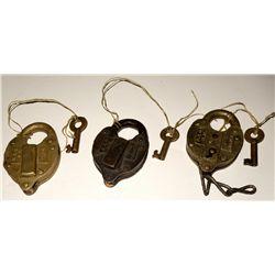 Three B&O railroad locks