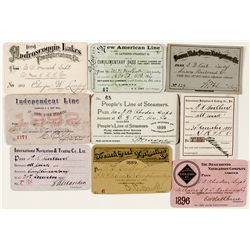 Miscellaneous United States pre-1900 Steamer Passes