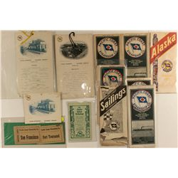 Pacific Coast Steamship Company Ephemera w/ Carroll Auto.