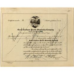 Great Northern Pacific Steamship Co. Stock Certificate