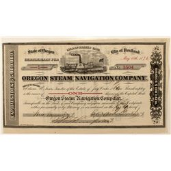 Oregon Steam Navigation Co. Stock Certificate