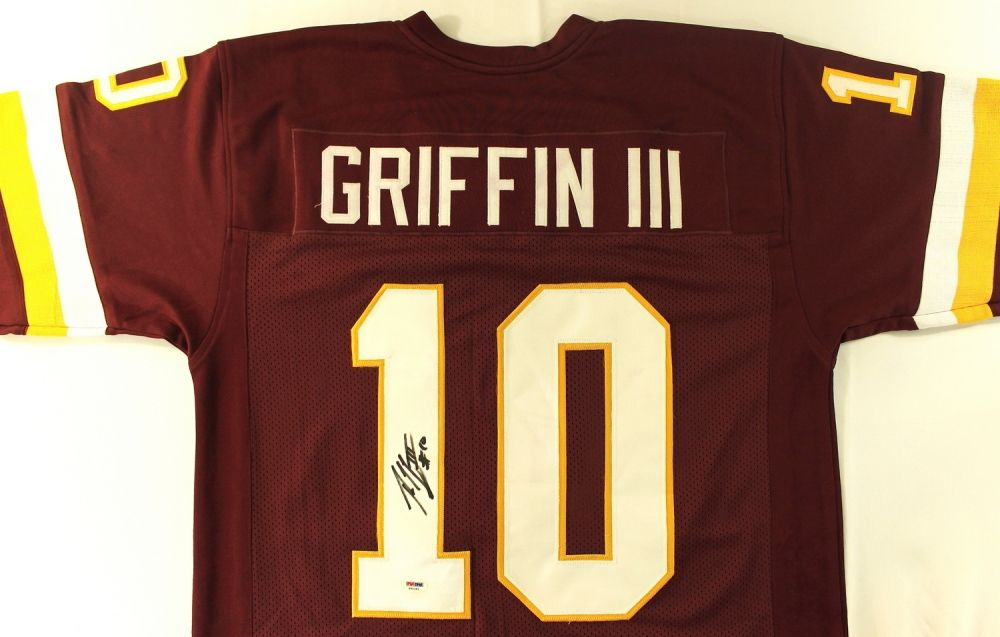 new arrival cb6ca 2f142 Robert Griffin III Signed Redskins Jersey (PSA)