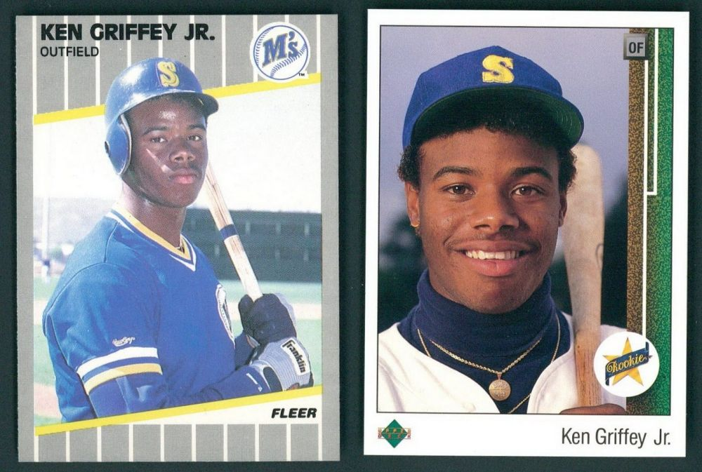 Lot Of 3 Ken Griffey Jr Rookie Cards With 1989 Upper Deck