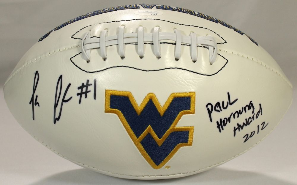Tavon Austin Signed West Virginia Logo Football Inscribed