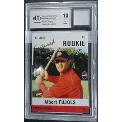2004 Just Featured Albert Pujols Rookie Card Wpiece Of Game Used Jersey