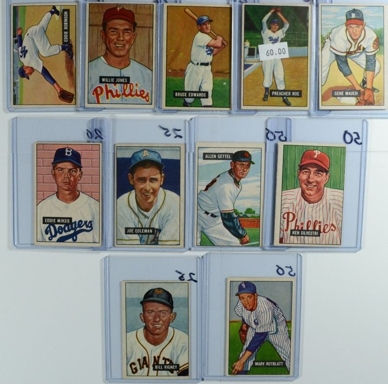 Image 1 11 1951 BOWMAN BASEBALL CARDS BOOK VALUE 400