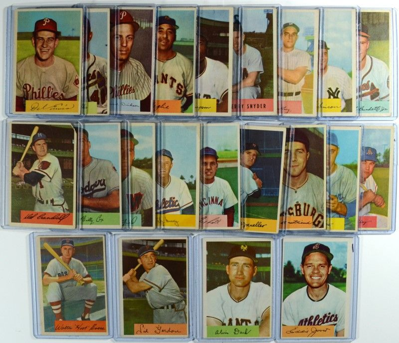 22 1954 Bowman Baseball Cards Book Value 370