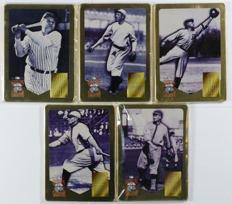1980 Tcma Baseball Immortals Metallic 1936 Hall Of Fame Electees 5 Metal Cards