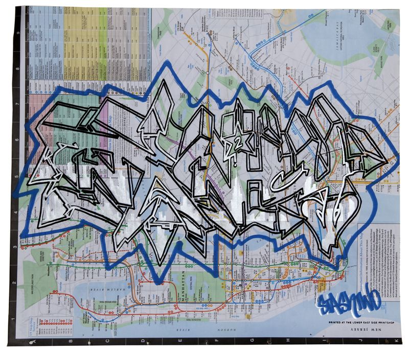 1992 Nyc Subway Map.Stash Two Subway Map Spray Paint On Nyc Subway Map