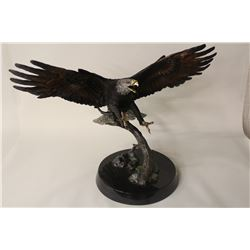 """KITTY CANTRELL, """"CREATOR'S MESSANGER"""" LIMITED EDITION PEWTER SCULPTURE 19/500 26"""" HIGH"""