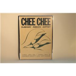 """BENJAMIN CHEE CHEE (1944-77) HAND SIGNED POSTER DATED INSCRIBED """"DON'T BE CROSS"""" DATED 77"""