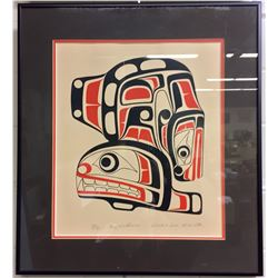 """ROY WADHAMS, LIMITED EDITION FRAMED PRINT """"WHALE- SEA MONSTER"""" SIGNED, 199/300"""