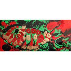 """Josignacio, """"Girlfish Waiting"""" 1993, Plastic paint"""