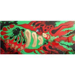 "Josignacio, ""The Rock's Fish"" 1993, Plastic paint"