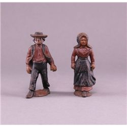 1900's Amish cast iron figures. (Size: See last photo