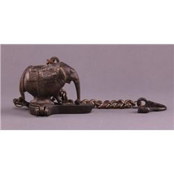 Rare antique bronze incense burner.  This is a portable