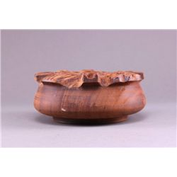 Solid one piece hardwood bowl.  Unknown origin. (Size: