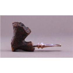 Antique carved tobacco pipe hand made in Denmark with