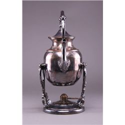 Tipping Teapot, Quadruple Silver Plated  (Size: See