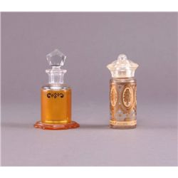 Early 1900's perfume bottles. (Size: See last photo for