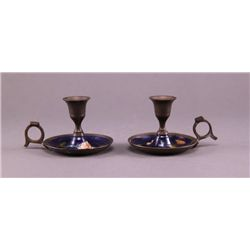 Two (2)candlestick holders. (Size: See last photo for