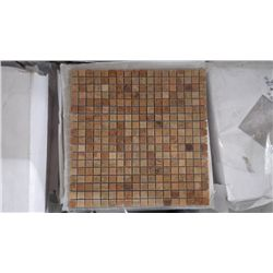 """10 BOXES APPROX 50 PIECES 12X12 MOSAIC IMPERIAL WOODGRAIN 5/8"""" RETAIL VALUE 1147.50 AT 22.95 PER SQ"""