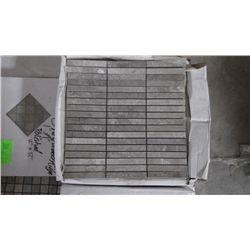 APPROX 95 PCS 12X12 MOSAIC GREY WOODRIDGE RETAIL 1800.00 AT 18.95 PER SQ FT