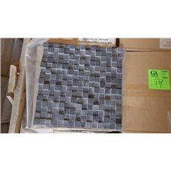 11  BOXES APPROX 55 PCS 12X12 BLACK LIMESTONE HONED DIMENSIONAL MOSIAC RETAIL 987.00 AT 17.95 PER SQ
