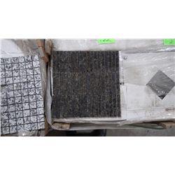 12 BOXES, 120 PCS, 12X12 MOSAIC UBATUBA GRANITE 3-SPLIT PLANKING RETAIL 2874.00 AT 23.95 PER SQ FT