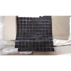 "10 BOXES, 100 PCS 12X12 BLACK GALAXY 1"" SQUARES MOSIAC RETAIL 2195.00 AT 21.95 PER SQ FT"