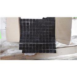 "11 BOXES 110 PCS 12X12 BLACK GALAXY 1"" SQAURES MOSAIC RETAIL 2414.00 AT 21.95 PER SQ FT"