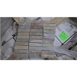 27 BOXESS, APPROX 135 PCS, 12X12 DESERT GOLD 1X4 MOSAIC RETAIL 1883.25 AT 13.95 PER SQ FT