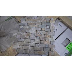 30 BOXES, APPROX 150 PCS, 12X12 DESERY GOLD STAGGERED MOSAIC RETAIL 2092.00 AT 13.95 PER SQ FT