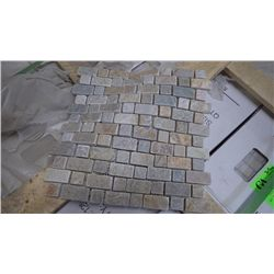 29 BOXES, APPROX 145 PCS, 12X12 DESERY GOLD STAGGERED MOSAIC RETAIL 2022.00 AT 13.95 PER SQ FT