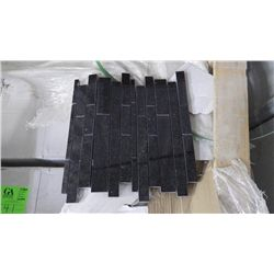 12 BOXES 120 PCS 12X12 BLACK GALAXY GRANITE MINI PLANKING MOSAIC RETAIL 2874.00 AT 23.95 PER SQ FT