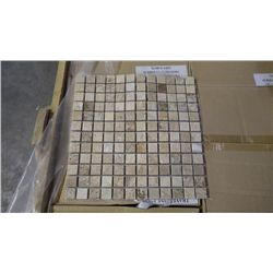 "15 BOXES APPROX 150 PCS 12X12 TRAVERTINE POLISHED 1"" MOSAIC RETAIL 2842.00 AT 18.95 PER SQ FT"