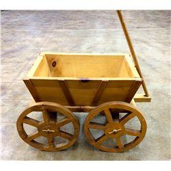 Wooden Folk-art Wagon