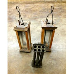 Vintage Wooden Candle Holders and Candle Formers