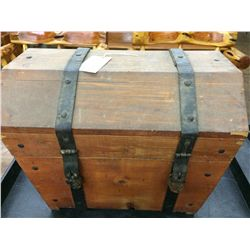 Large Handmade Wood Trunk
