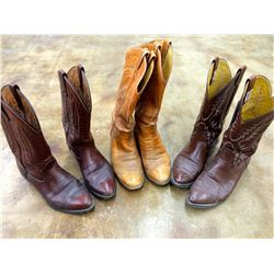 3 Pair of Cowboy Boots