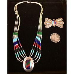 Necklace & Brooch Lot