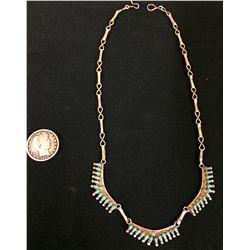 Zuni Style Petite Point Necklace