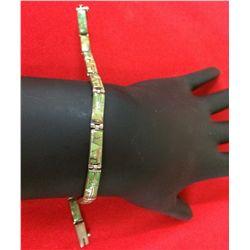 Channel Inlay link Bracelet