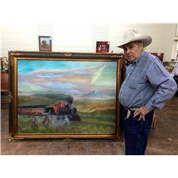 HUGE Original Oil Painting by Olguin