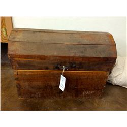 """Handmade Wooden Trunk with """"Period"""" Clothing"""