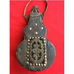 Antique Leather Powder Horn