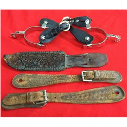 Spur & Misc. Leather Lot
