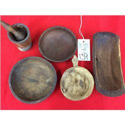 Vintage Handmade Wooden Dishes