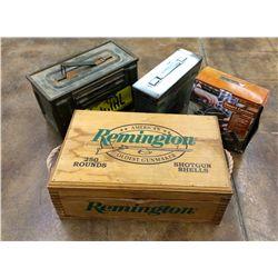 Ammunition Box & Canteen Lot