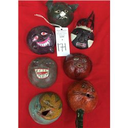 Another Hand painted Gourd Mask Lot